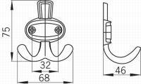 12335 - ALEXEJ věšák staré stříbro