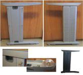64051 - Podnož kanc.stol.730mm STŘÍBRNÁ